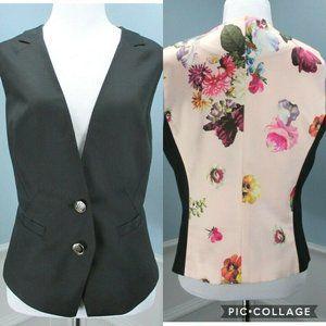 Ted Baker Vest Quinne 4 US10 Black Pink Floral